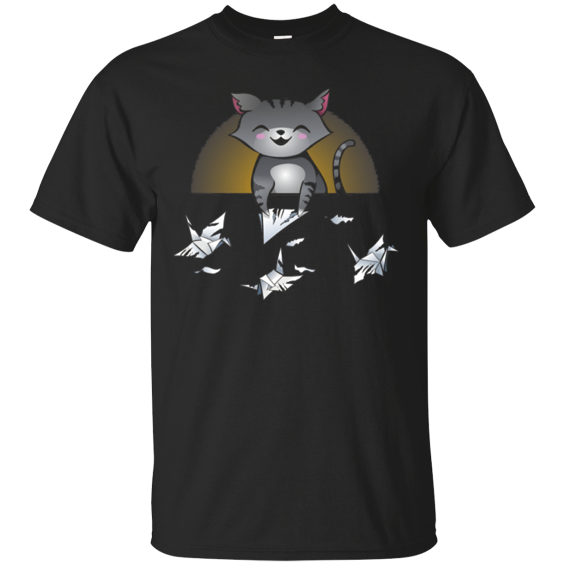 Cute Funny Kitty Cat Origami T-Shirt