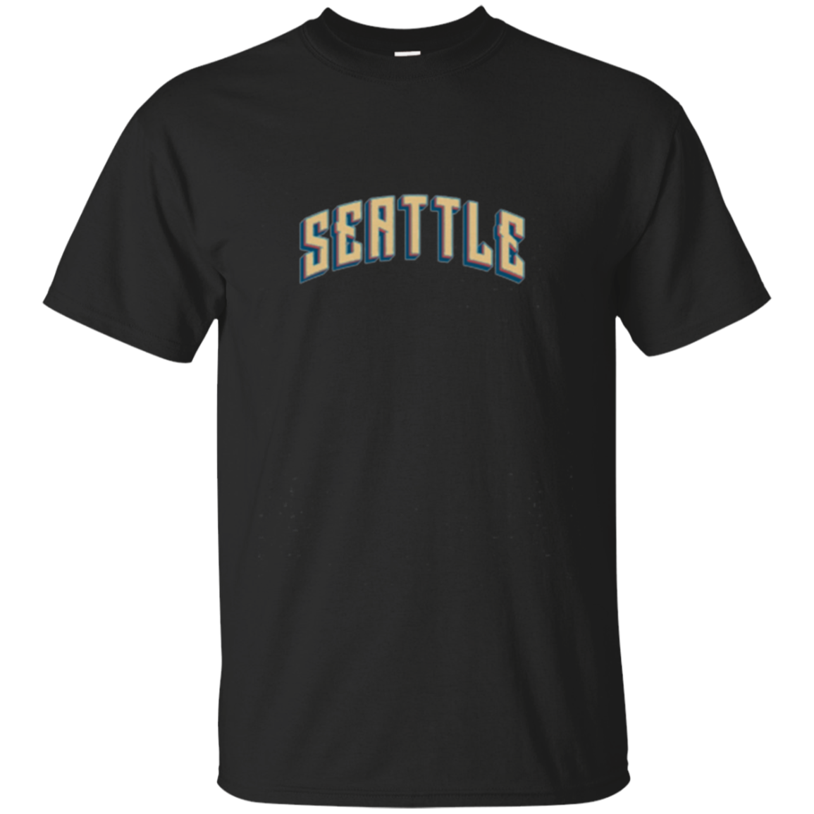 Seattle Retro Cities USA Long Sleeve T Shirts