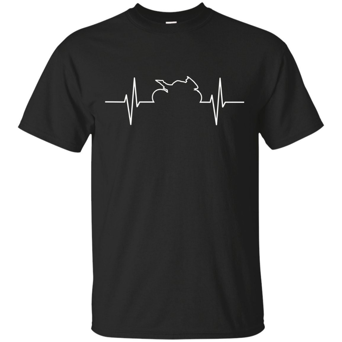 Sport Bike Motorcycle Heartbeat T Shirt For Riders
