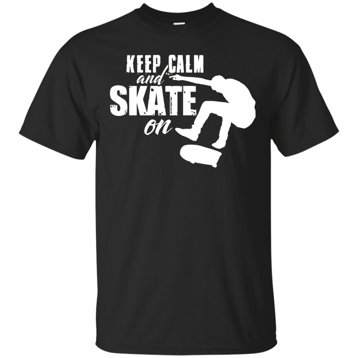 Keep Calm and Skate On Skateboarding Tee Skateboard Riders