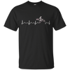 Image of Motocross heart beat with Us flag t-shirt
