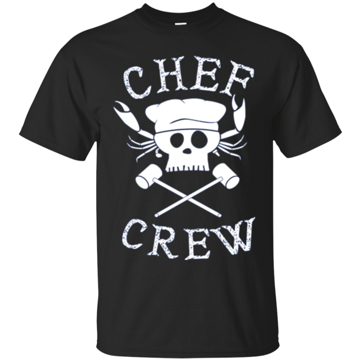 Chef Crew Crab Pirate Long Sleeve T-Shirt