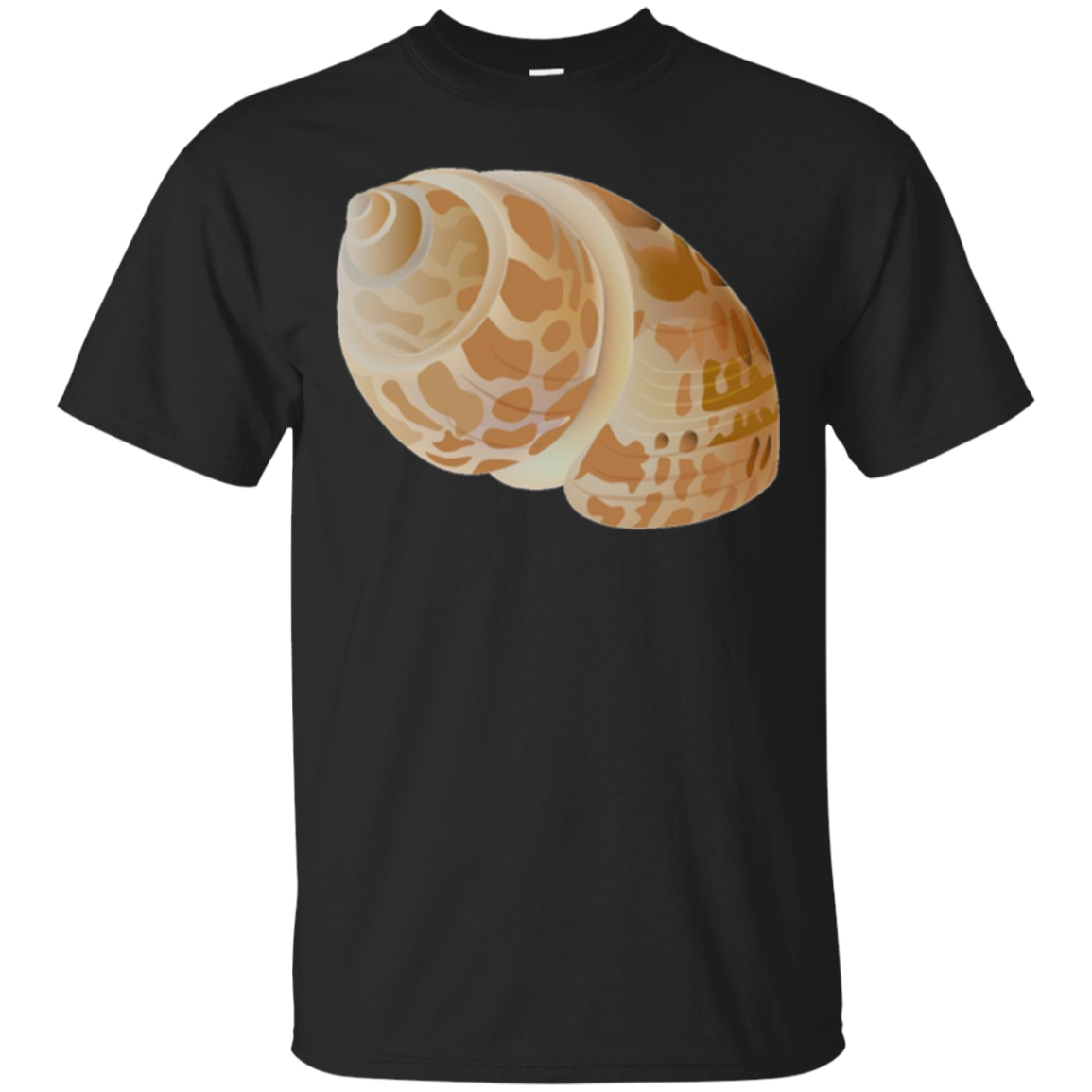 Seashell Spiral Long Sleeve T-Shirt | Hermit Crab Shell Sand