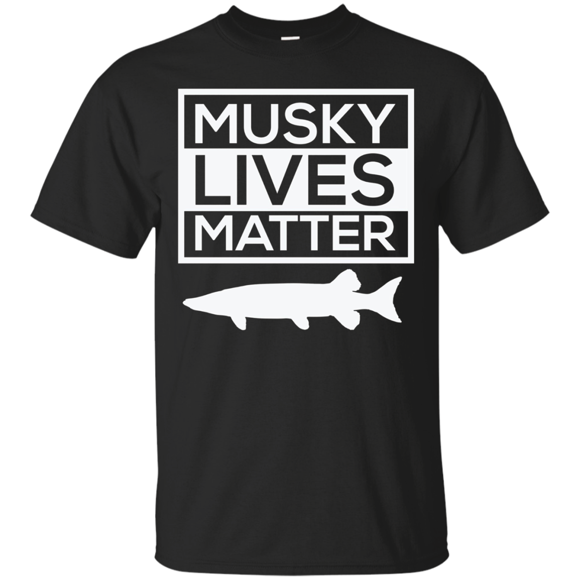 Musky Lives Matter Muskellunge Musky Fishing Funny T-Shirt