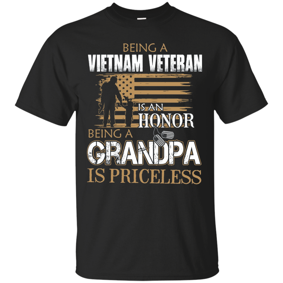 Vietnam Veteran Is An Honor Grandpa Is Priceless T Shirts