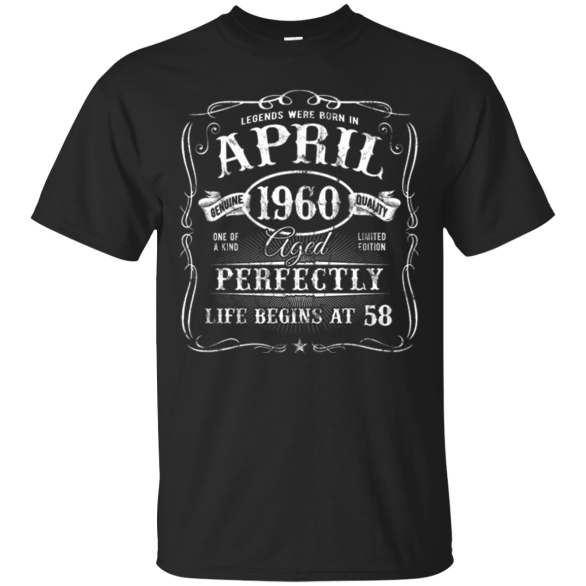 Legends Were Born In April 1960 Vintage 58th Birthday Shirt