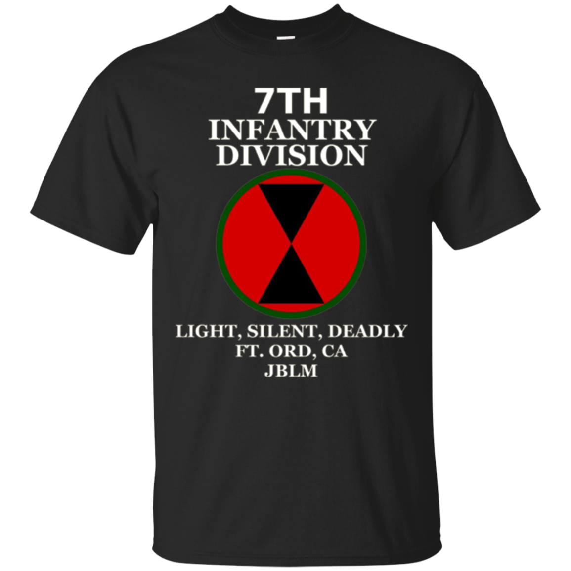 7th Infantry Division - Light, Silent, Deadly Army T-Shirt