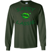 Image of Sassy Lassie Irish Kisses Green Kissy Lips T-Shirt