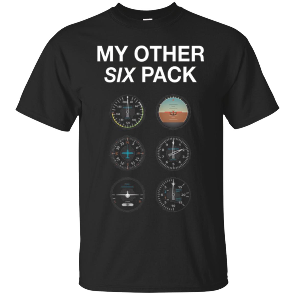 My Other Six Pack Funny Pilot T-Shirt