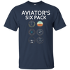 Image of Aviator's SIx Pack - Funny Aviation T-Shirt