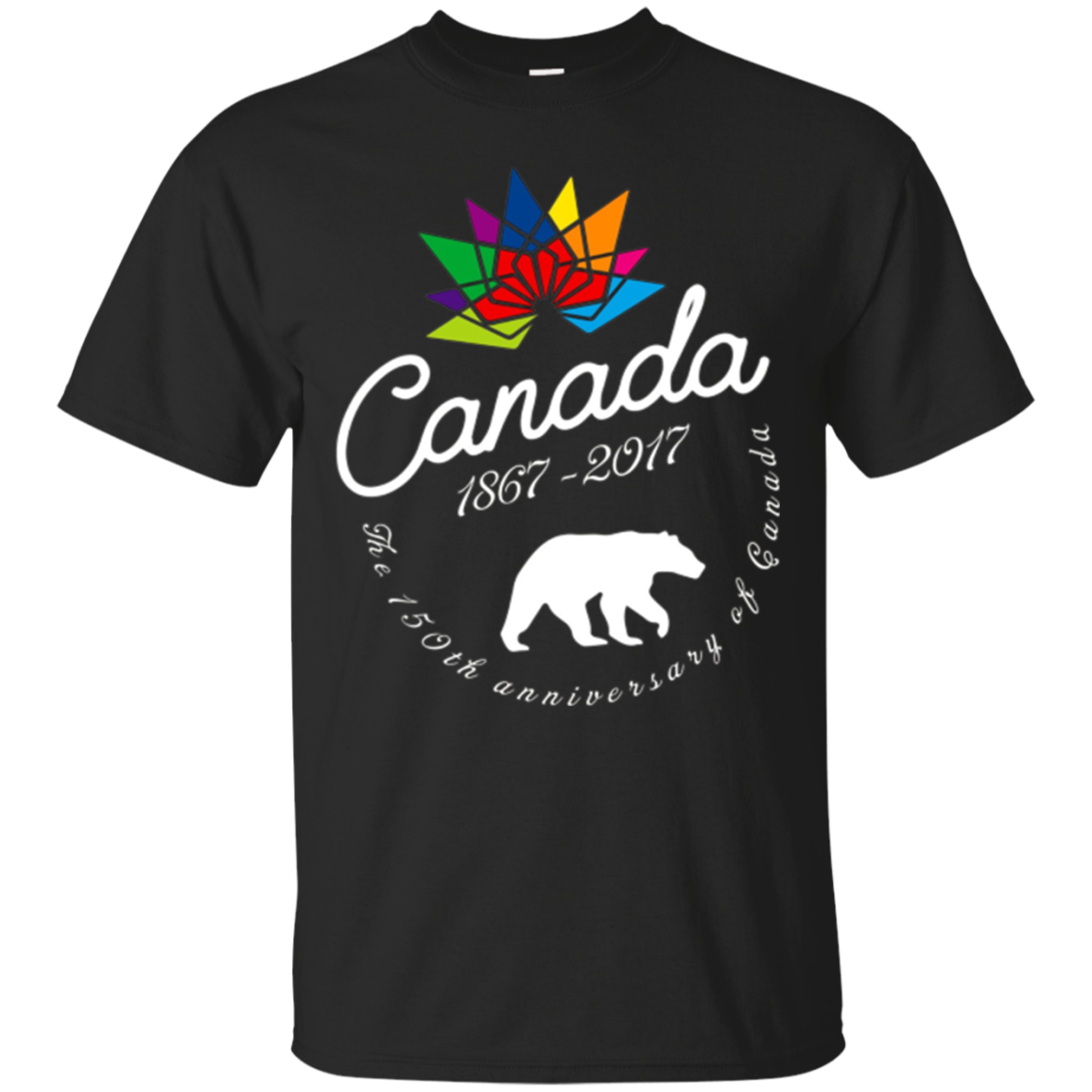 Canada 150 Years 1867-2017 Flag Vintage T-shirt