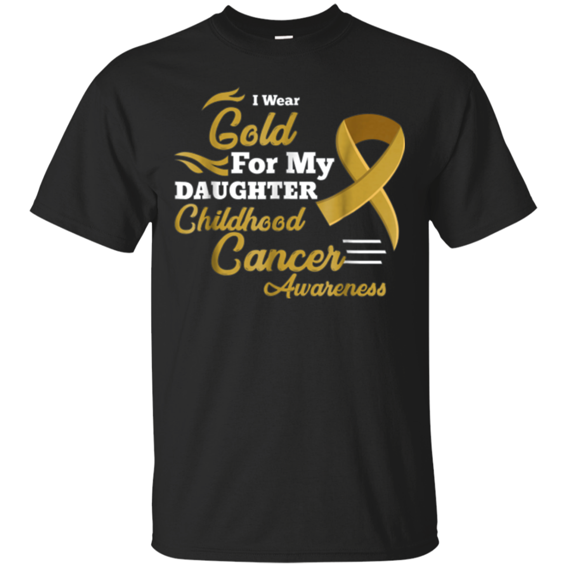 Wear for My Daughter Childhood Cancer Awareness Shirt