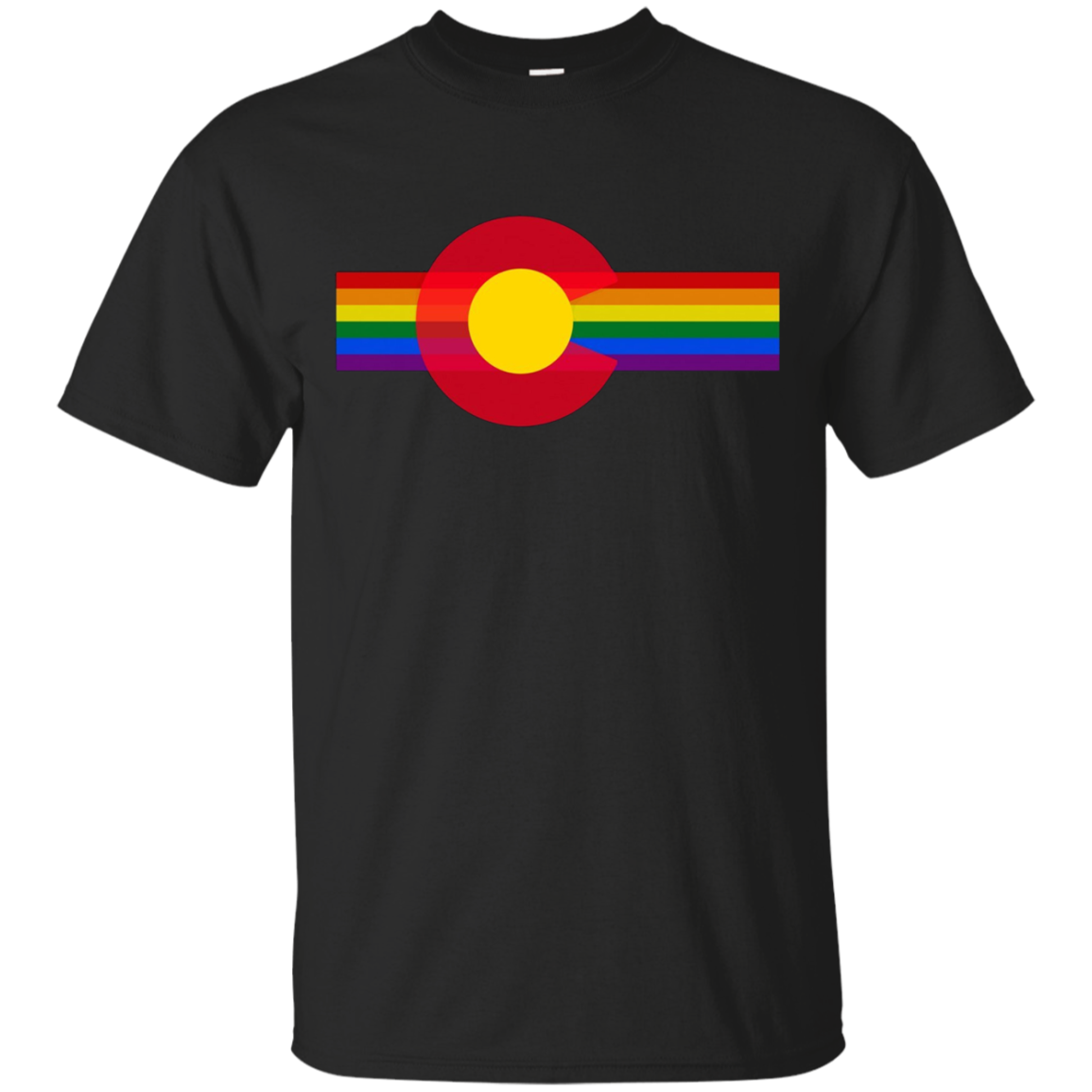 State of Colorado Flag Gay Pride SHIRT Rainbow Retro T-Shirt