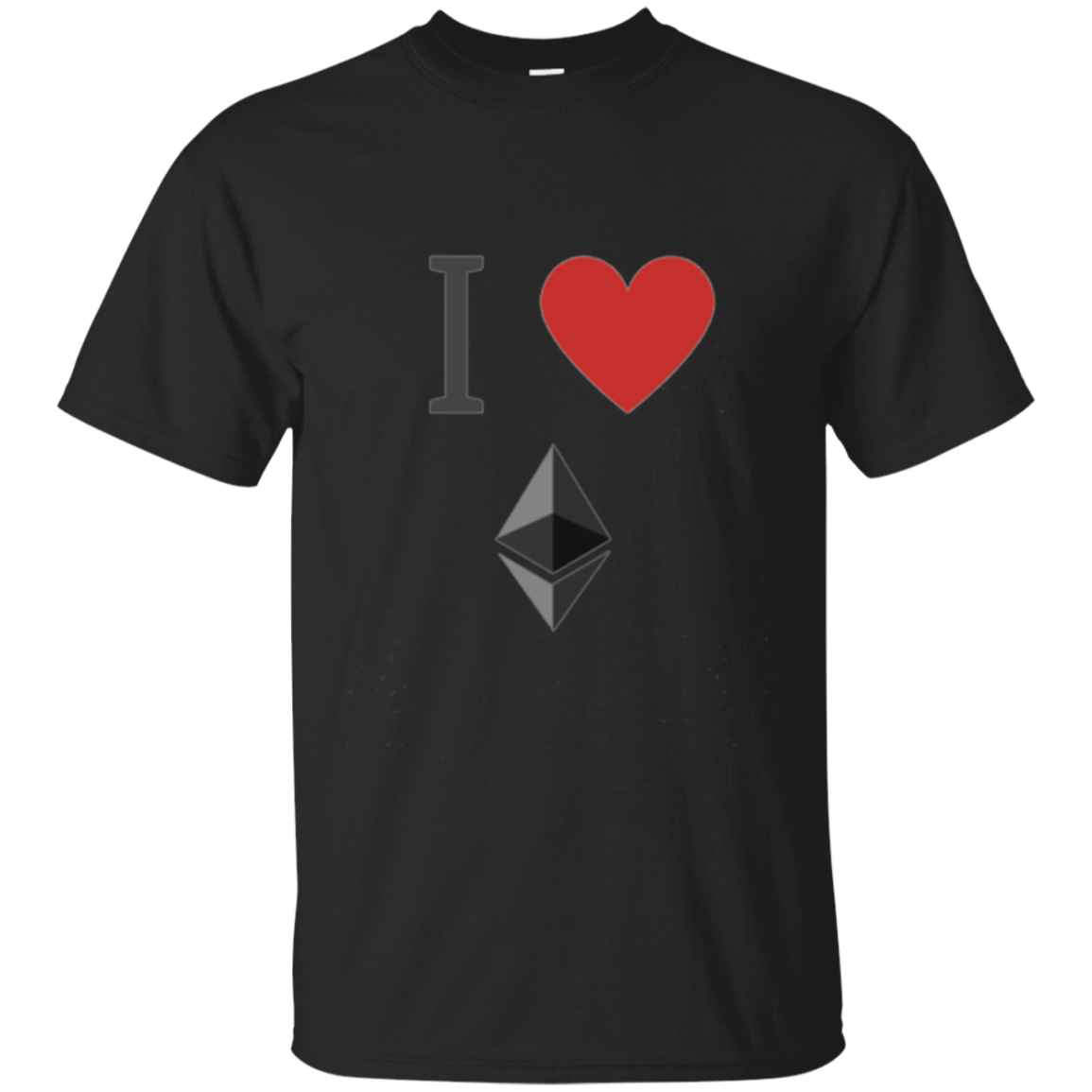 Ethereum Shirt - I Love Ethereum - ETH Crypto Bitcoin