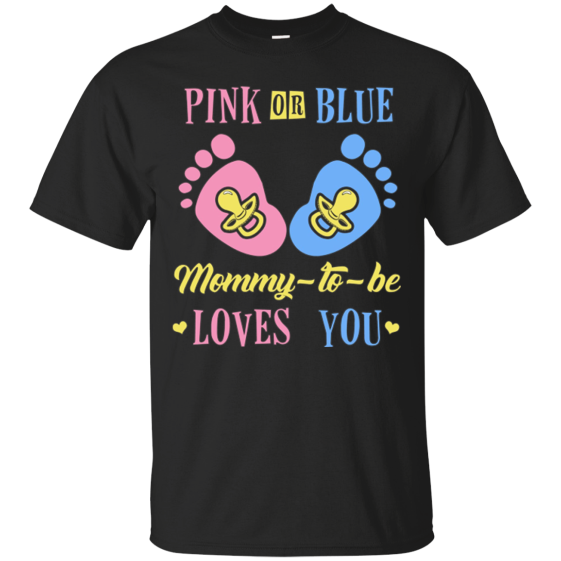 Pink or Blue Mommie To Be Baby Announcement Tee