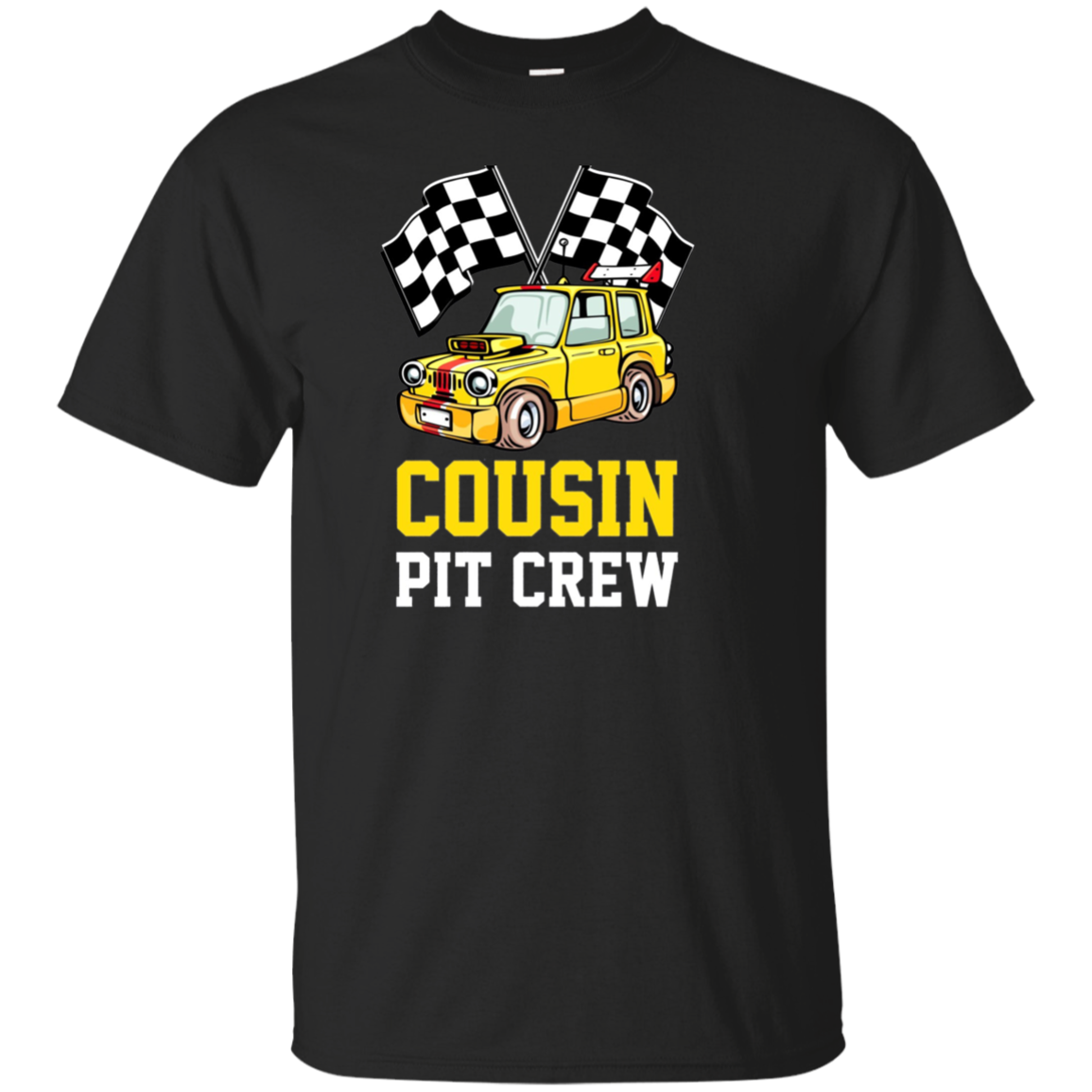 Pit Crew COUSIN Back Print Long Sleeve T-Shirt Race Car
