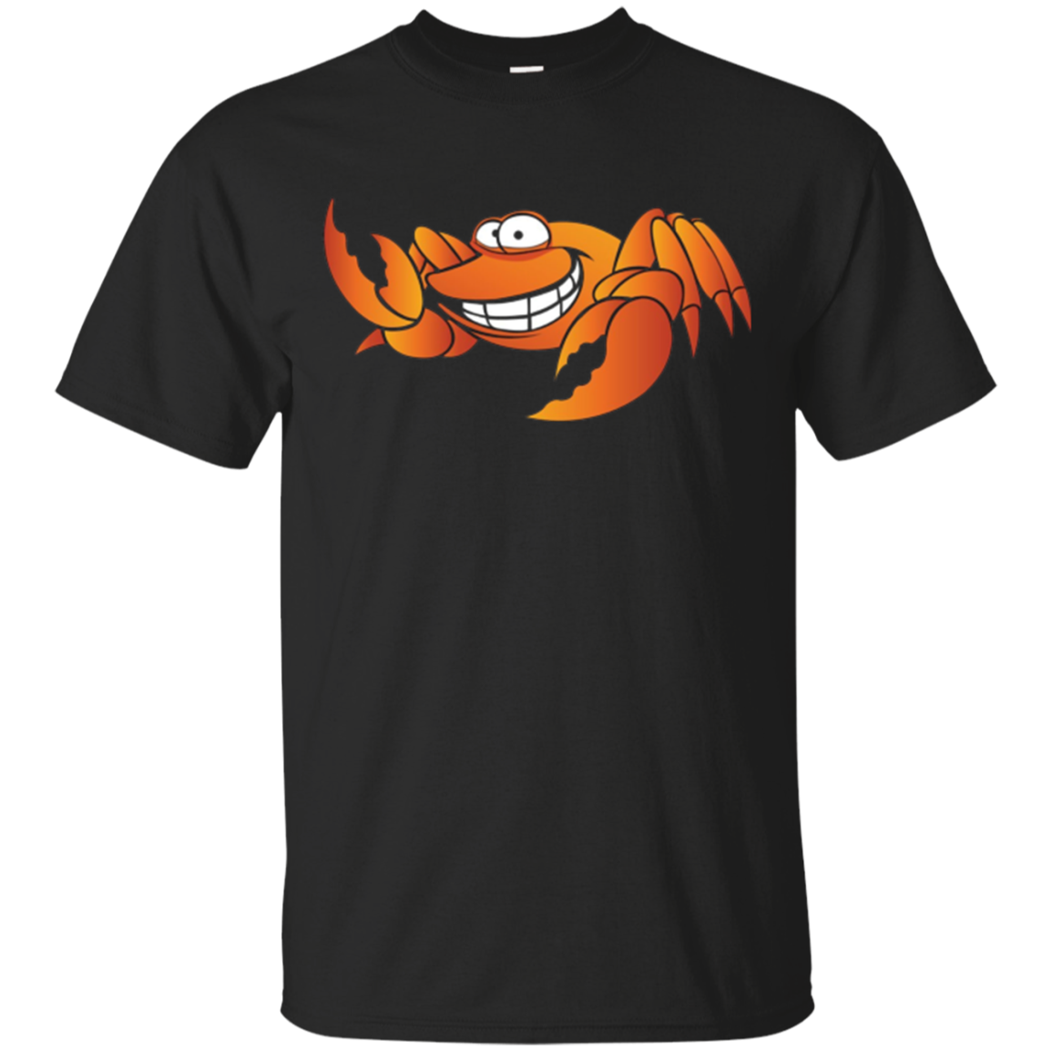 Long Sleeve Orange Carton Happy Crab Shirt