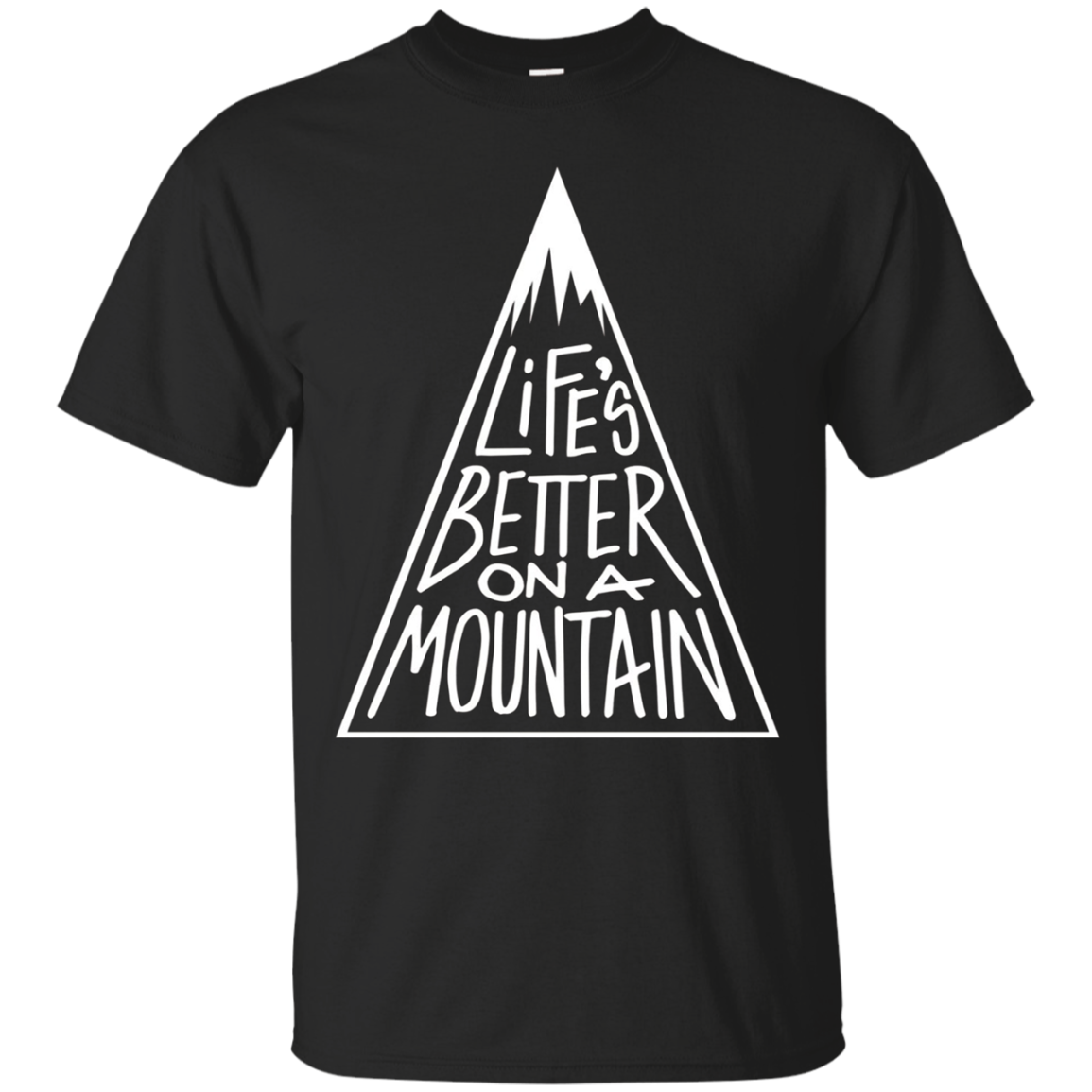 Life Is Better On A Mountain Unique Family Camping T-Shirt
