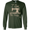 Image of I Sew To Burn Off The Crazy tshirt Sewing Lover Gifts