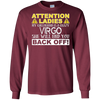Image of Attention Ladies My Girlfriend Is A Crazy Virgo Funny Tee