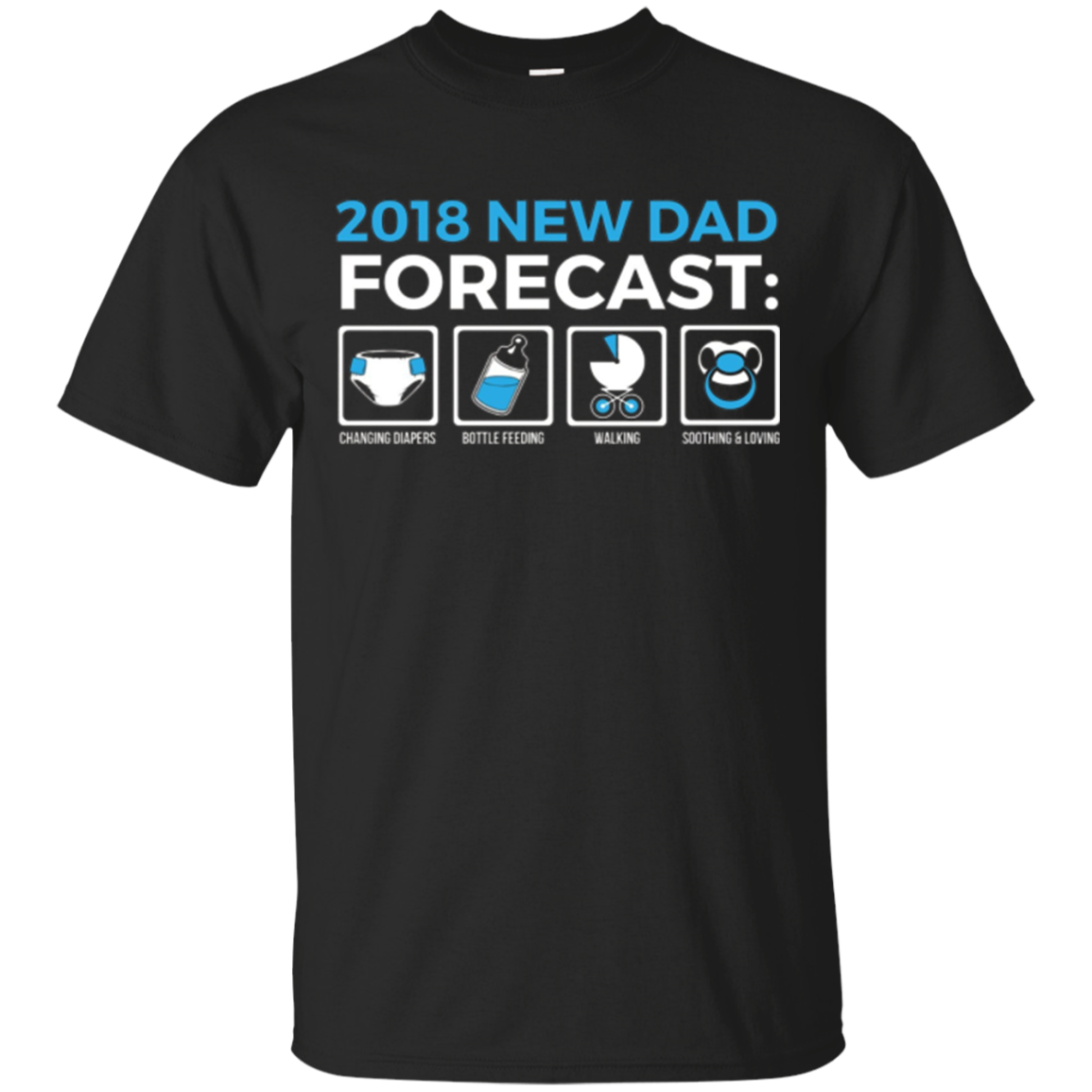 New Dad Forecast Expecting Dad 2018 Fathers Tshirt