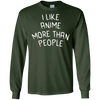 Image of I Like Anime More Than People Shirt, Manga Otaku Japan Gift