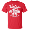 Image of 40th Birthday Vintage Retro Motorcycle 1978 Rider T-shirt