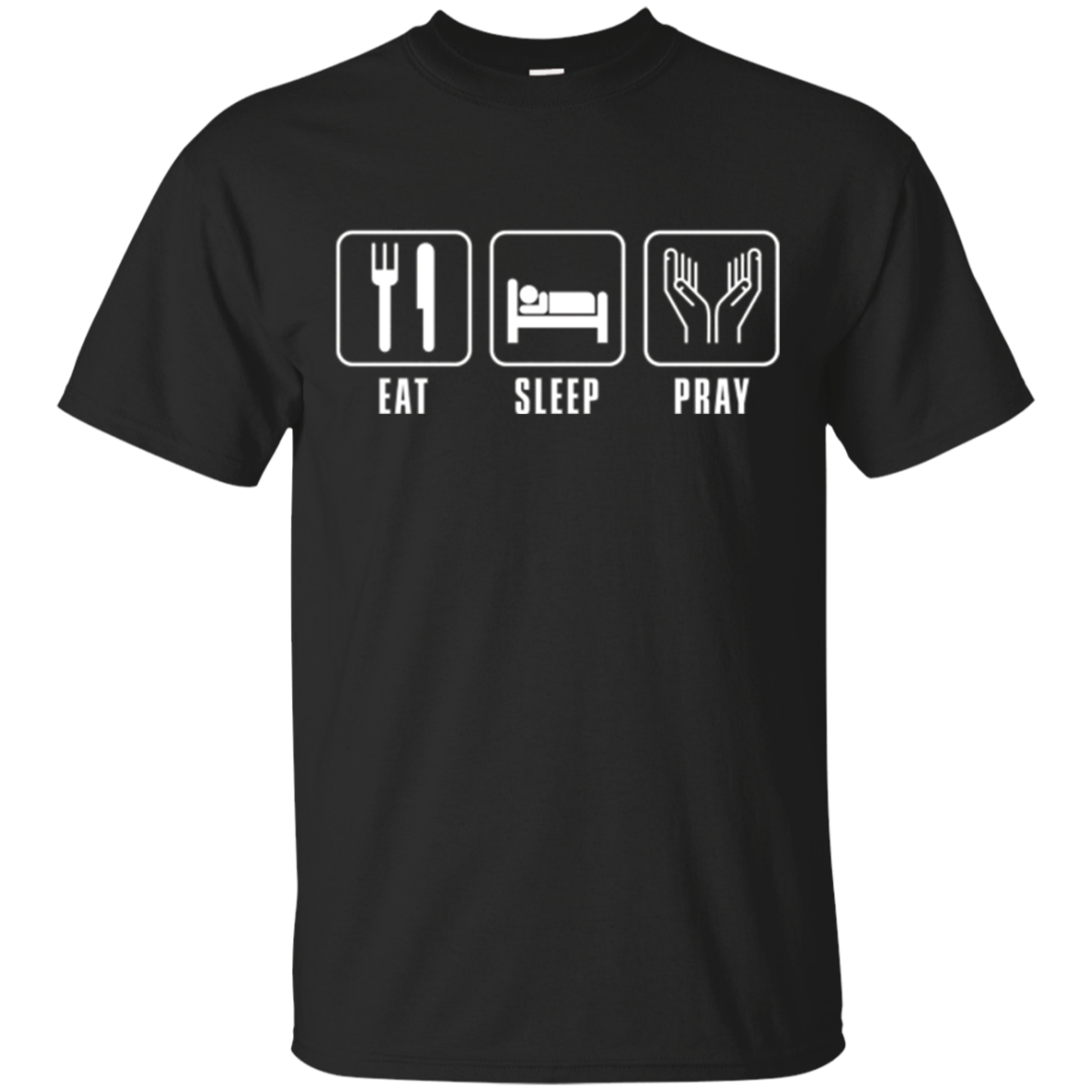 EatSleepJersey Prayer's Eat Sleep Pray Christian T-Shirt