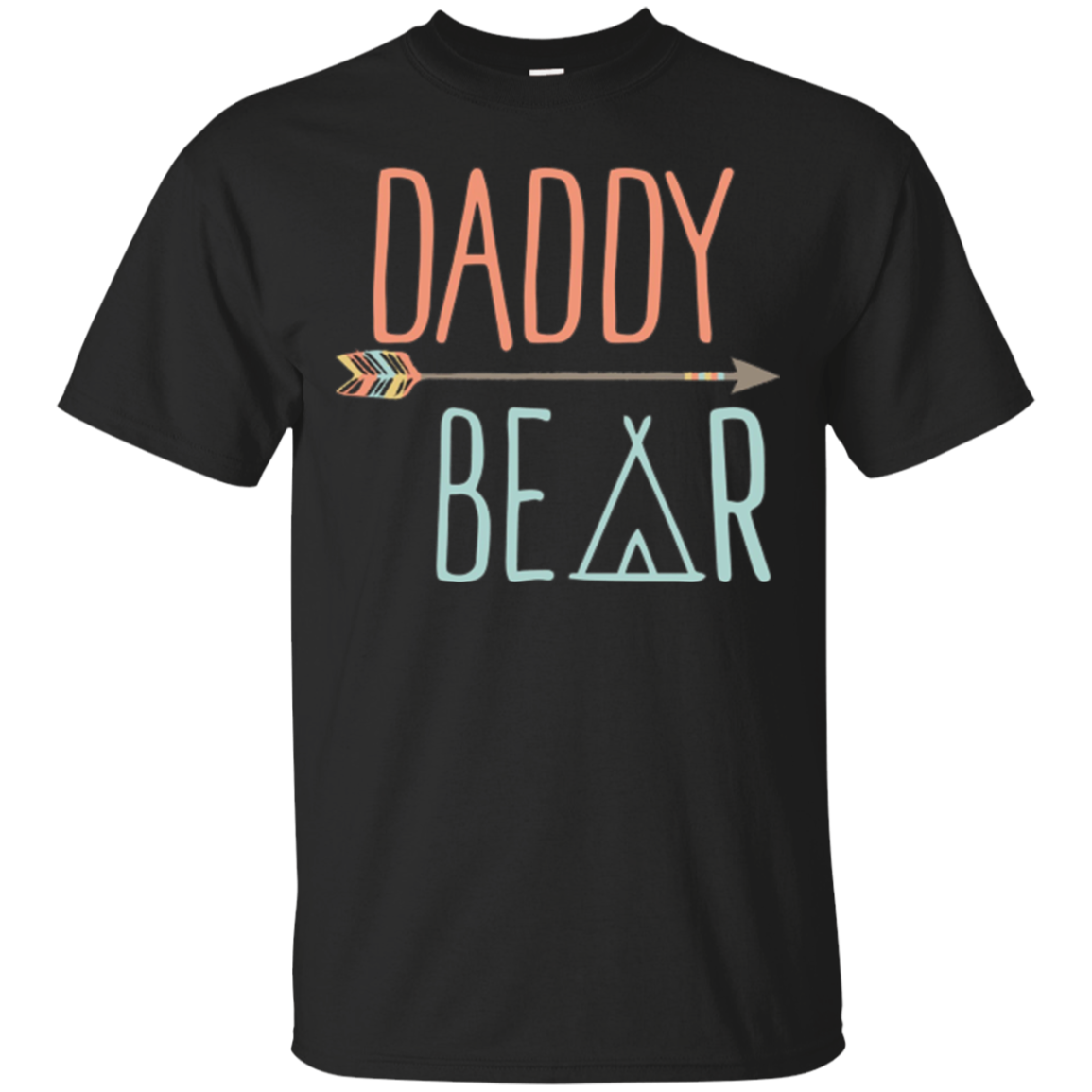 Mens Arrow Tribal Daddy Bear Shirt Father's Day Shirt