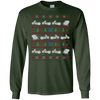 Image of Motorcycle Ugly Christmas Sweater, Santa on Motorcycle Shirt