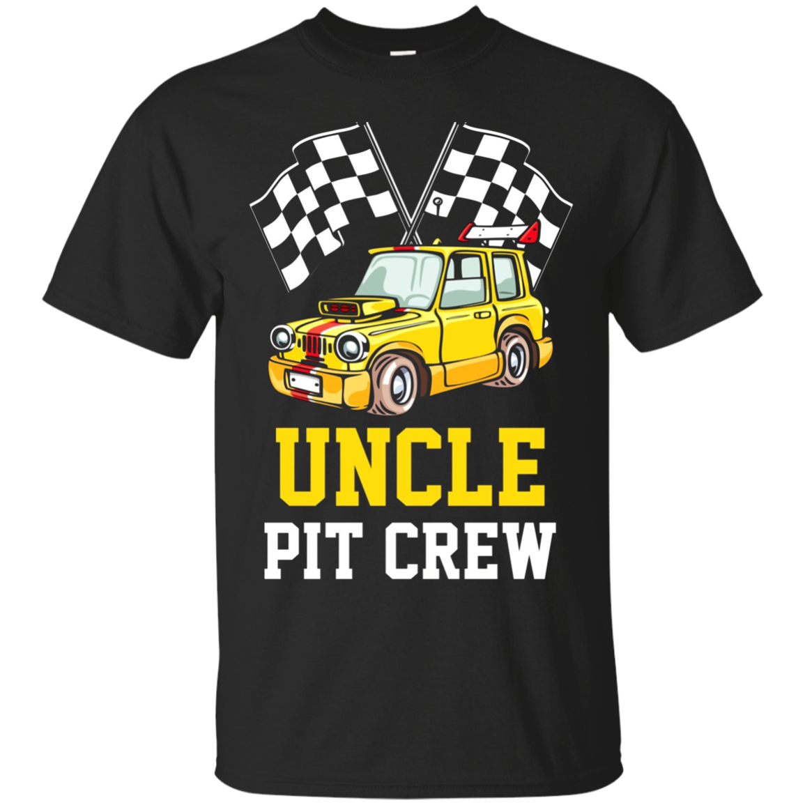 Pit Crew UNCLE Back Print Long Sleeve T-Shirt Race Car