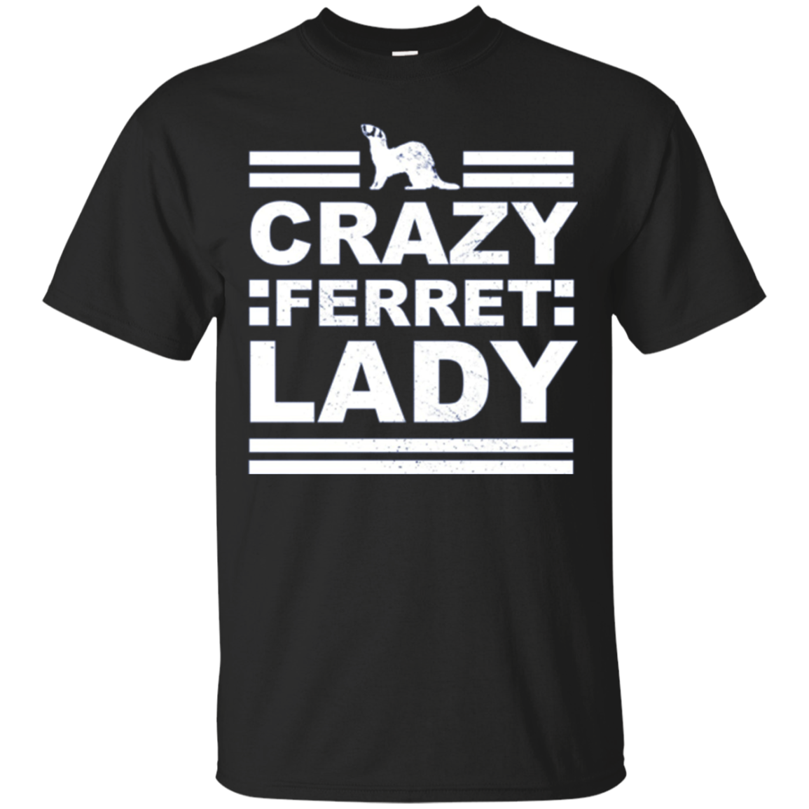 Crazy Ferret Lady Funny Pet Long Sleeve Gift T-Shirt