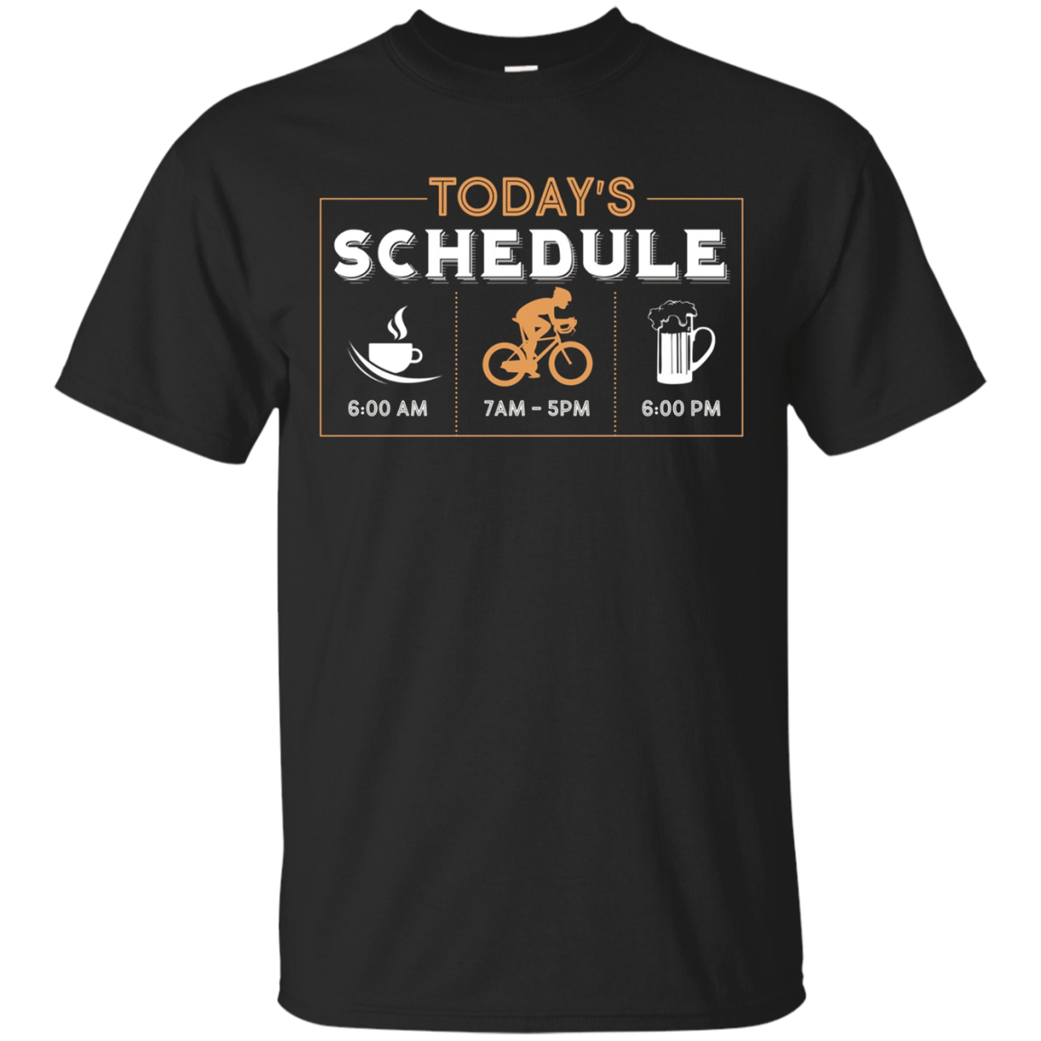 Today's Schedule Coffee Cycling Beer | Funny Cycling T-shirt