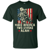 Image of Make America Two Stroke Again shirt. Biker for Trump T-shirt