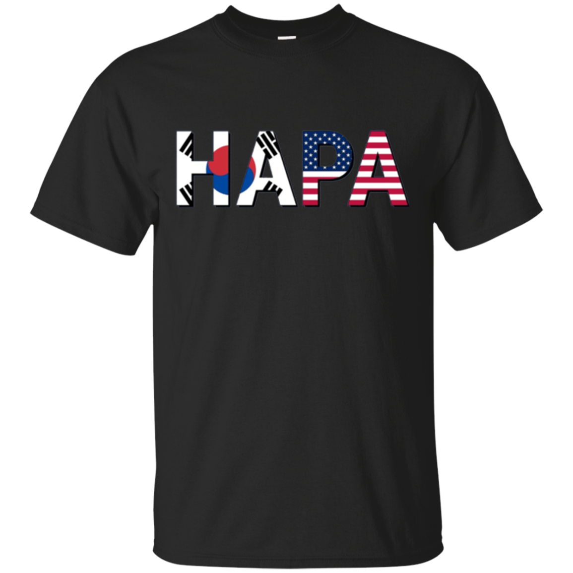 Hapa Combinations Long Sleeve T-Shirt for Korean Americans