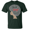 Image of Virgo Zodiac Birthday Afro T-Shirt for Black Women