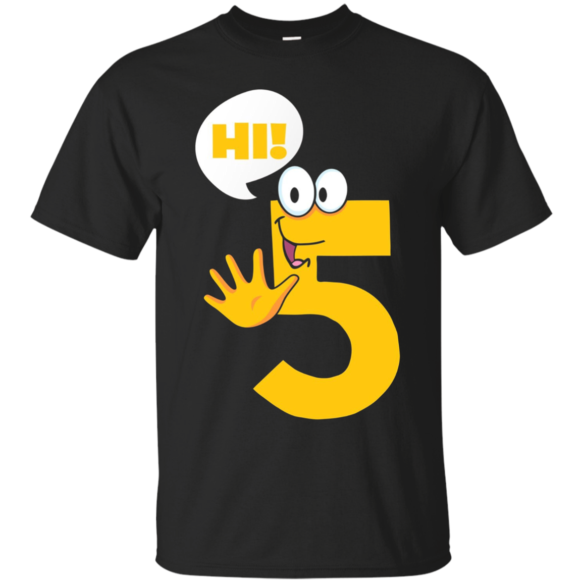 High Five T-Shirt - Funny Hi 5 Ice-Breaker Geek Wordplay Tee