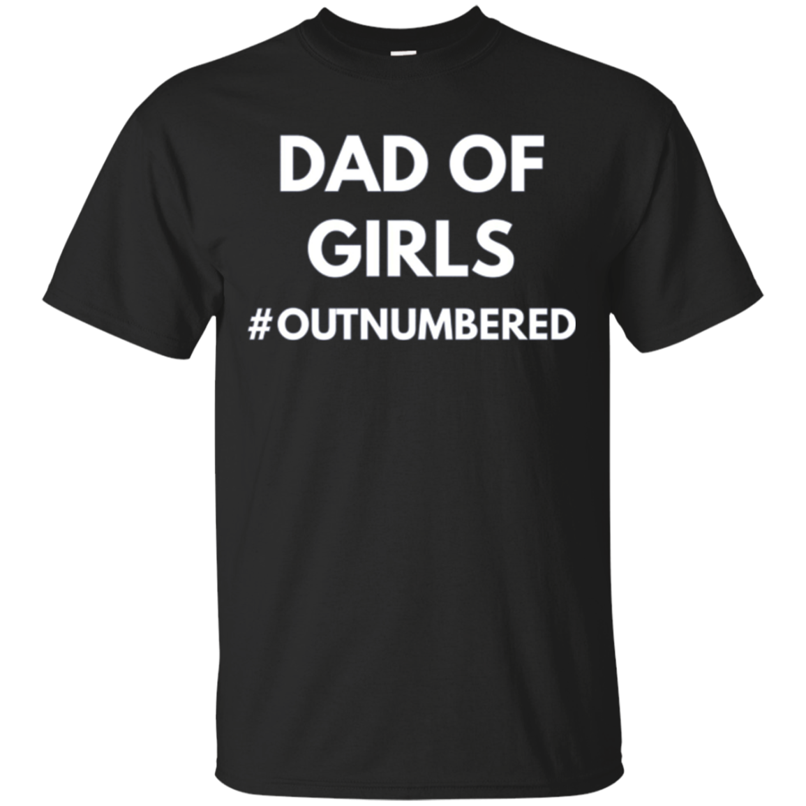 Dad of Girls Outnumbered - Long Sleeve Shirt