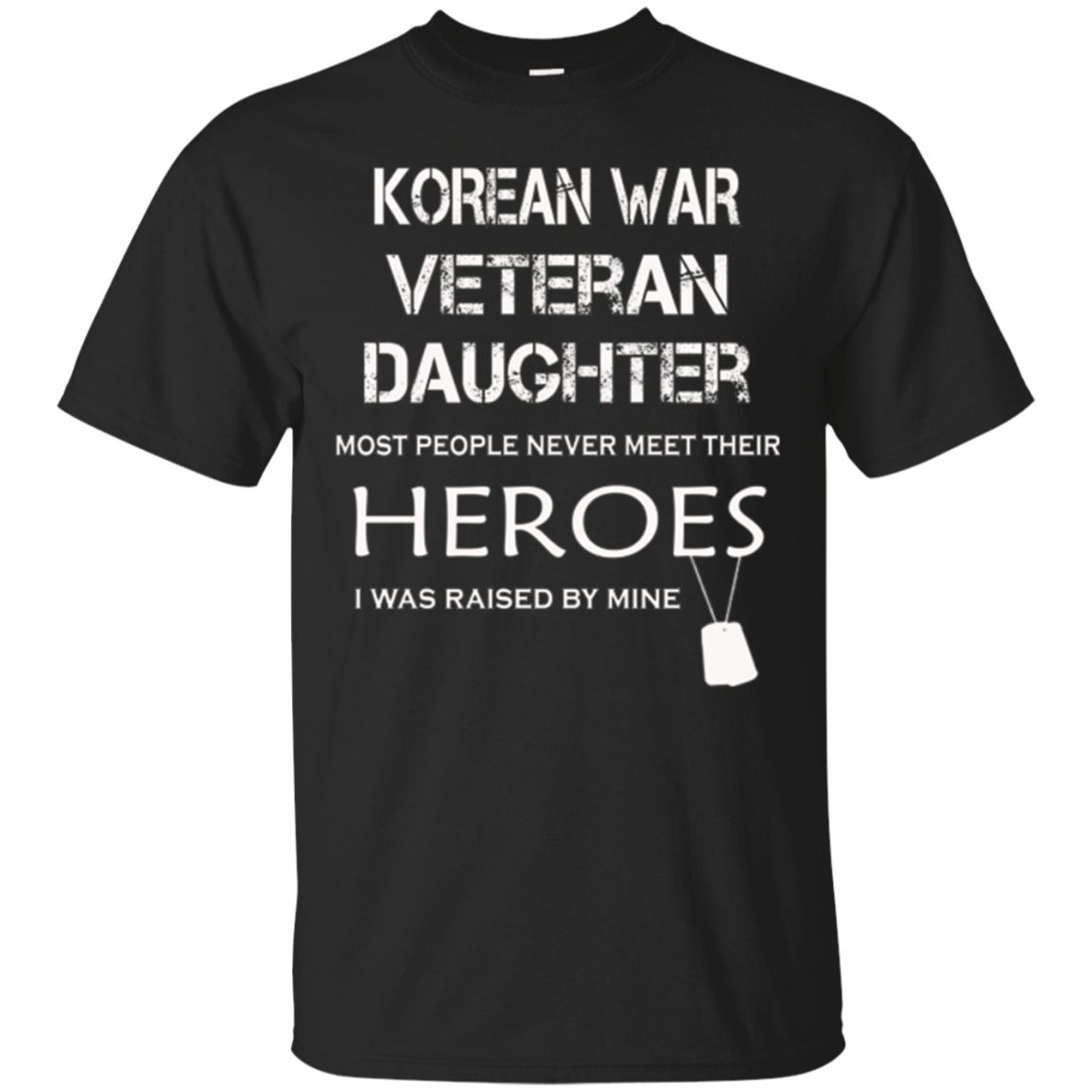 Korean war veteran daughter tshirt