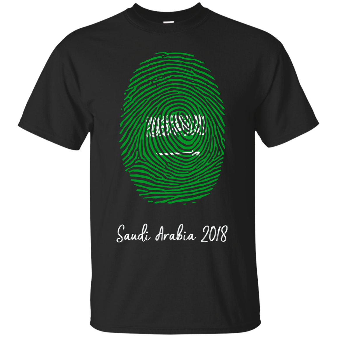 Saudi Arabia Shirt 2018 Thumbprint Soccer Flag Design