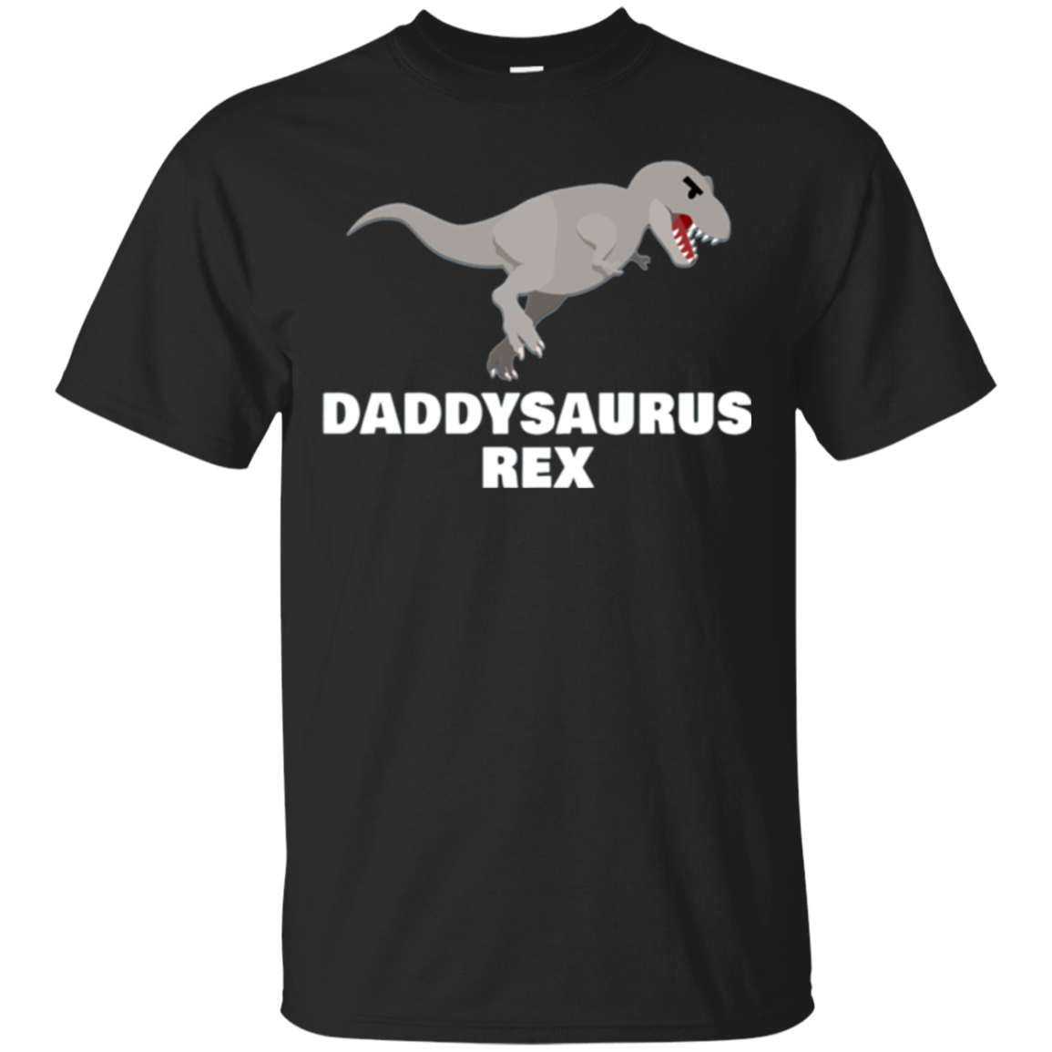 Mens Daddy Saurus Rex T Shirt Father's Day Gifts For Dad