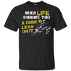 Image of When Life Throws You a Curve Lean T-Shirt Biker Gift For Men