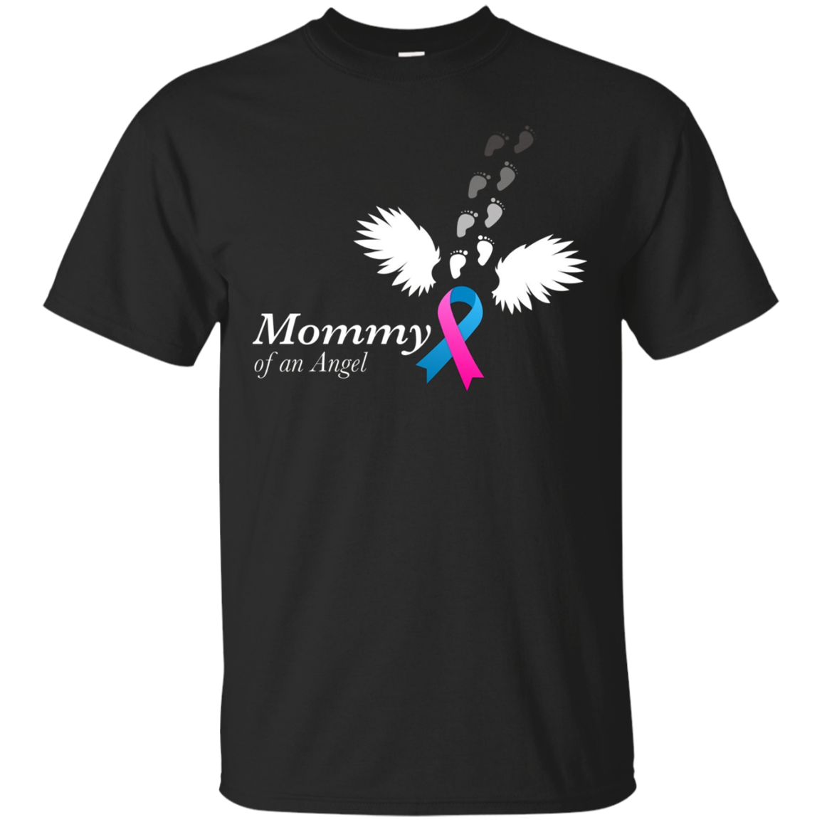 Angel Mommy T-Shirt. Miscarriage Awareness Infant Loss Tee