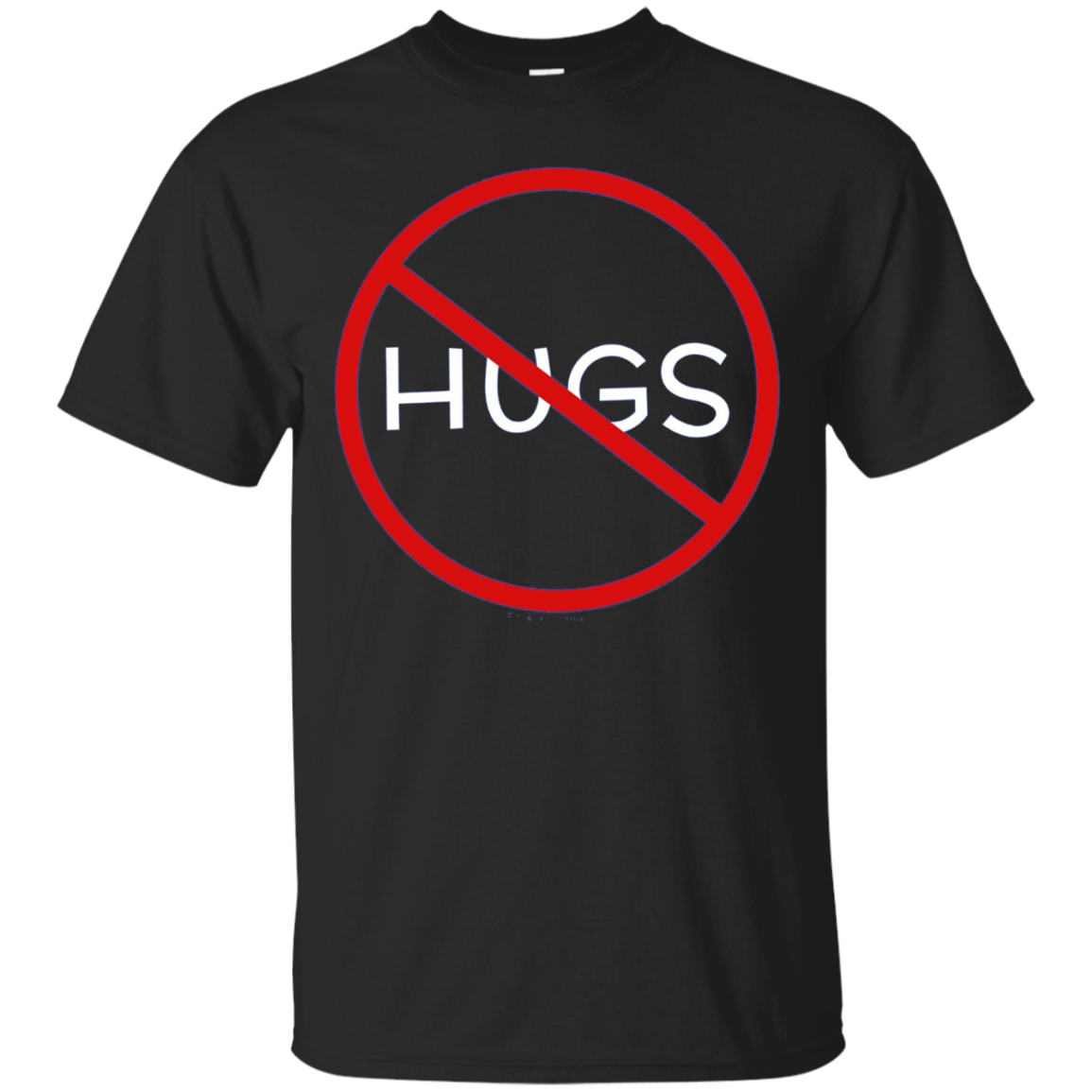 No Hugs Don't Touch Me Introvert Personal Space PSA Shirt