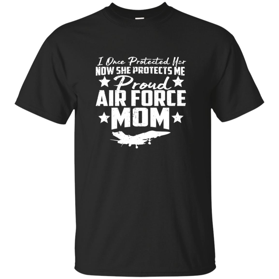 SHE PROTECTS ME Proud AIR FORCE MOM Long Sleeve T-shirt