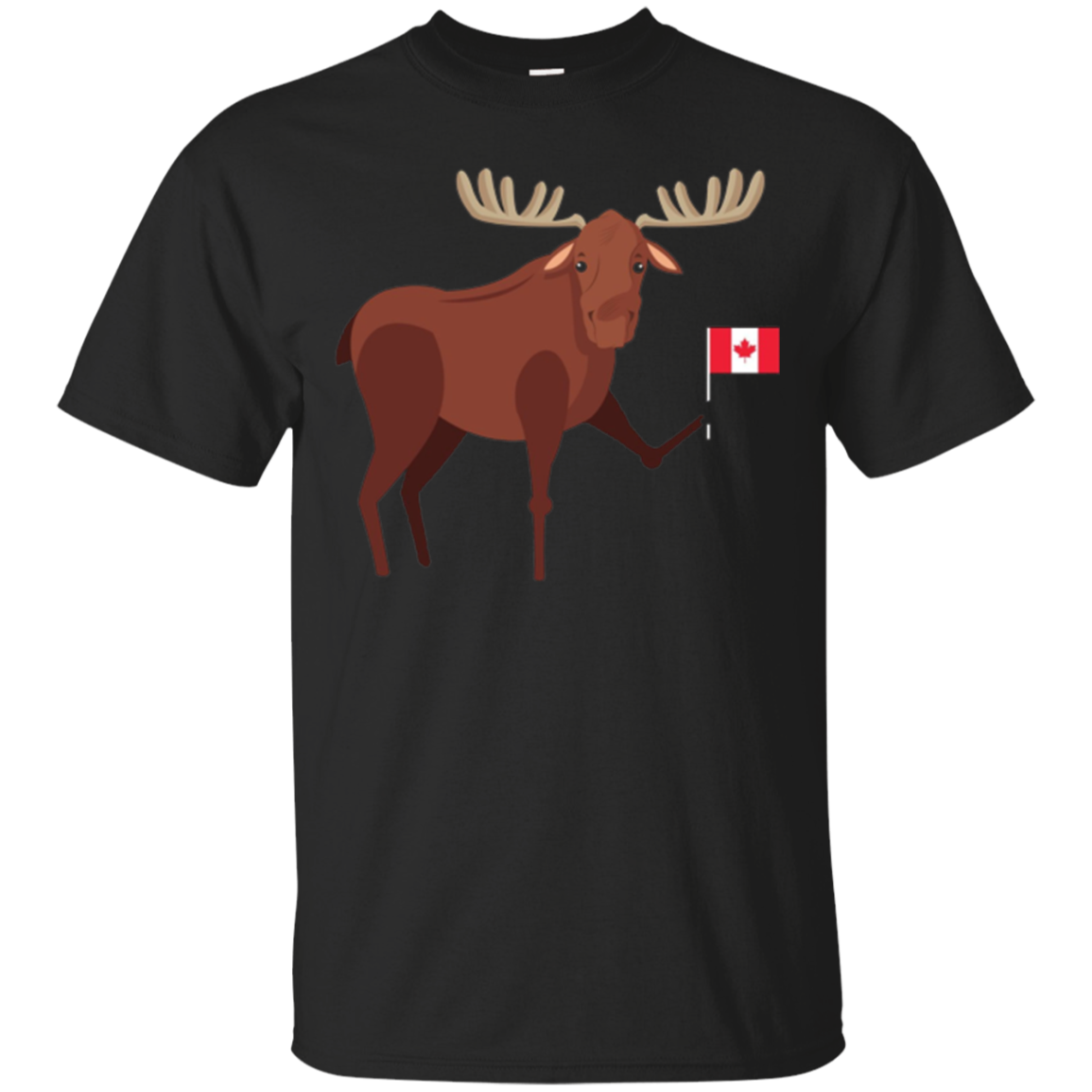 Cute Canadian Pride Moose Canadian Flag Celebration Shirt
