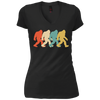 Image of Bigfoot Silhouette Retro Pop Art Sasquatch Graphic T-Shirt