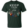 Image of Keep Calm Just Play Guitar T-Shirt Musician Tee