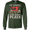 Image of My Sewing Room Is My Happy Place Funny Sewing T Shirt