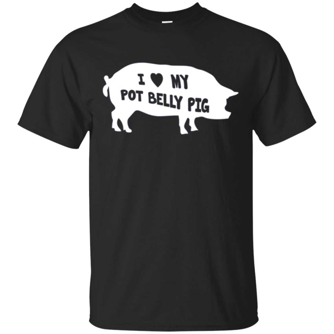 I Love My Pot Belly Pig Farm Animal Pet Shirt